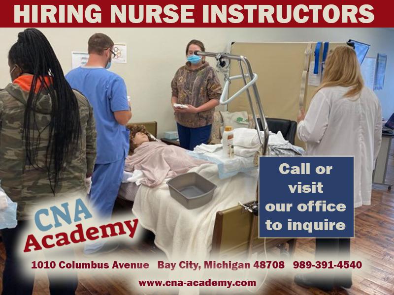 CNA Hiring Nurse Instructors ad