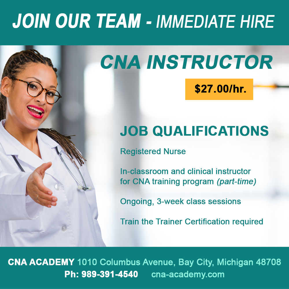 CNA INSTRUCTOR - JOIN OUR TEAM